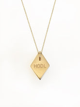 "Ethereum HODL Pendant Necklace - Back View Engraved ""HODL"""