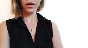 woman wearing Ethereum HODL Necklace