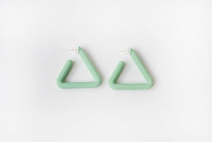 Green Triangle Hoop
