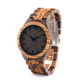 Wooden Watch with Ebony Bamboo Face