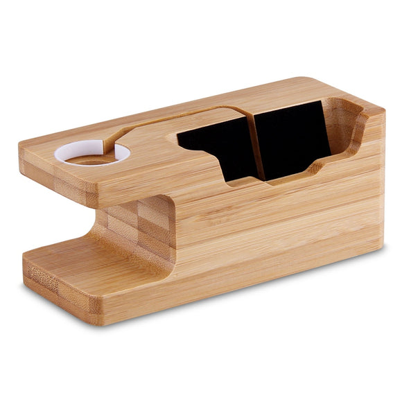 Wooden Charging Dock with 3 USB Ports