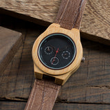 Bamboo Watch with Soft Cork Leather Band