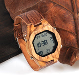 Luxury Multi functional LED Wooden Watch