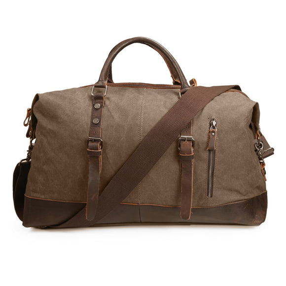 Vintage Canvas Shoulder Bag Weekend Travel Duffel Bag
