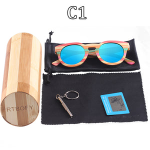 Bamboo Polarized Sunglasses with free wooded display box