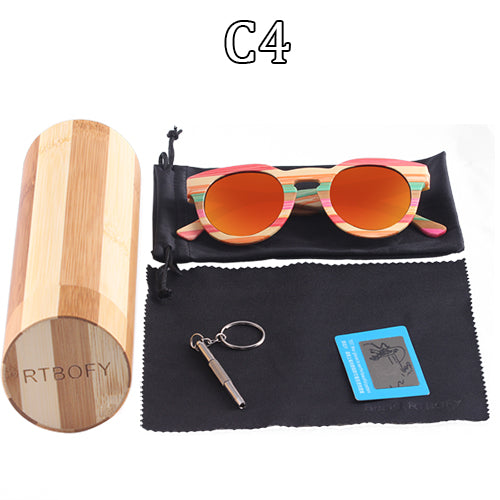851227c2c5 ... Bamboo Polarized Sunglasses with free wooded display box ...