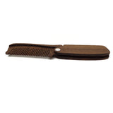 New Black Sandalwood Fine Tooth Pocket Folding Combs