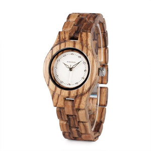 Wooden Watch with Diamond Dial FROM BOBO BIRD
