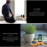 Bamboo Desk Charging Dock