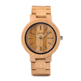 Original Bamboo Wristwatch With Date Display