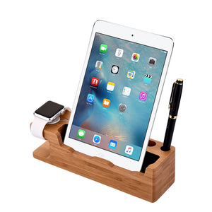 Bamboo Charging Stand for iPhone, iPad & Apple Watch