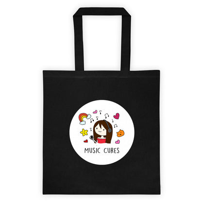 Music Cures Tote Bag