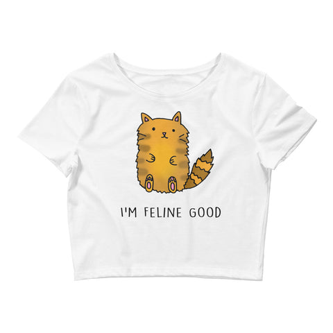 I'm Feline Good Crop Top
