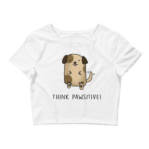 Think Pawsitive Crop Top