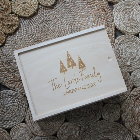 Trees Christmas Keepsake Box