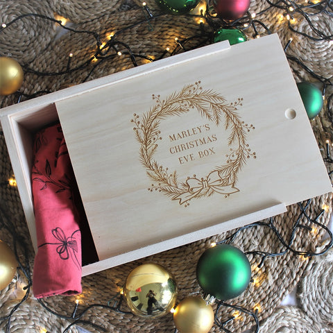 Wreath Christmas Keepsake Box