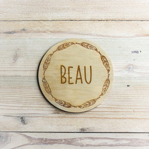 Name Plaque - Beau