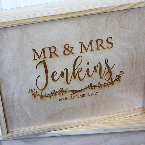 Leaf Laurel Wedding Keepsake Box