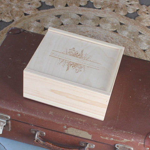 Split Wildflowers Keepsake Box