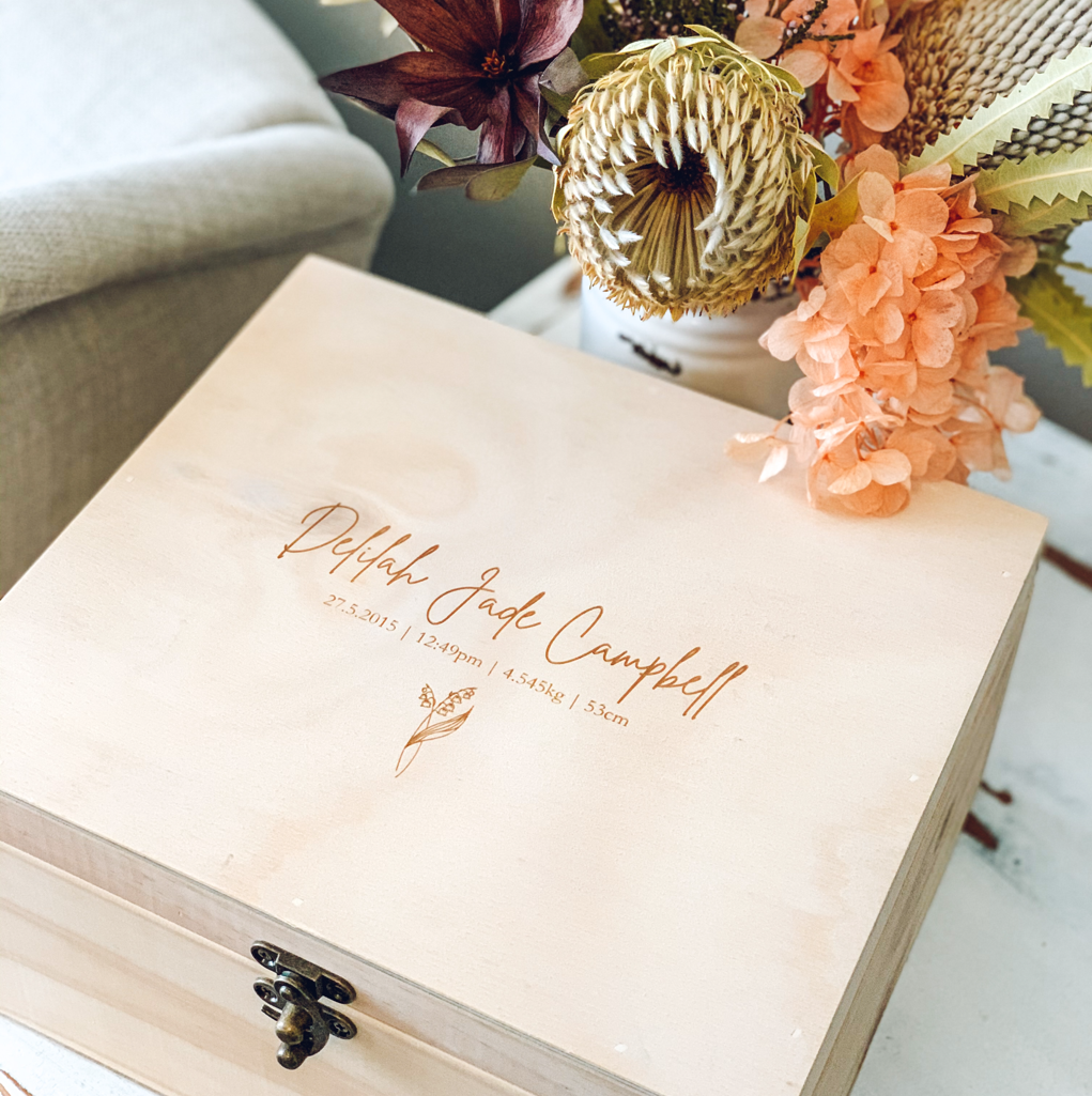 Birth Flower Keepsake Box