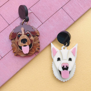 Custom Made 2 doggies Earrings