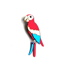 Load image into Gallery viewer, Scarlet Macaw Brooch