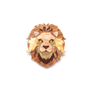 Lion Brooch