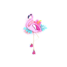 Load image into Gallery viewer, Flamingo Brooch