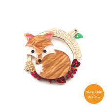 Load image into Gallery viewer, Fox Brooch