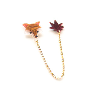 Fox Collar Brooch