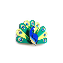Load image into Gallery viewer, Peacock Brooch