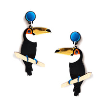 Load image into Gallery viewer, Toucan Earrings