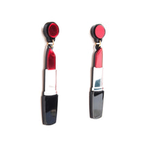 Load image into Gallery viewer, Lipstick Earrings - Red