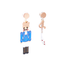 Load image into Gallery viewer, Nutcracker Earrings - Blue
