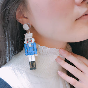Nutcracker Earrings - Blue