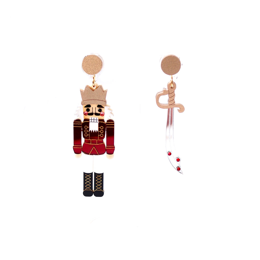 Nutcracker Earrings - Red