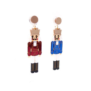 Nutcracker Earrings - Blue and Red