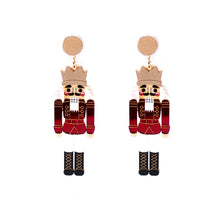 Load image into Gallery viewer, Nutcracker Earrings - Red and Red