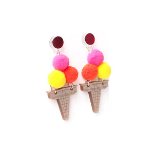 Ice cream Earrings - Vibrant