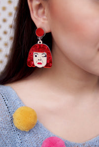 Yayoi Pumpkin Earrings