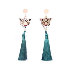Load image into Gallery viewer, Leopard Tassels Earrings