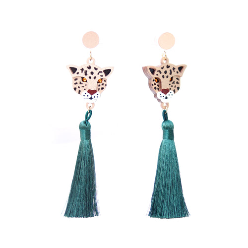 Leopard Tassels Earrings