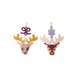 Red Nose Reindeer Earrings