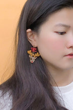 Load image into Gallery viewer, Red Nose Reindeer Earrings