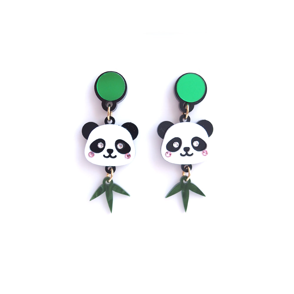 Little Panda Head Earrings