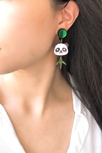 Load image into Gallery viewer, Little Panda Head Earrings