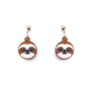 Sloth Head Earrings
