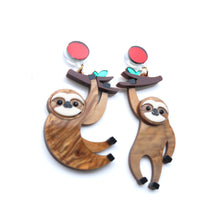 Load image into Gallery viewer, Sloth Dangle Earrings