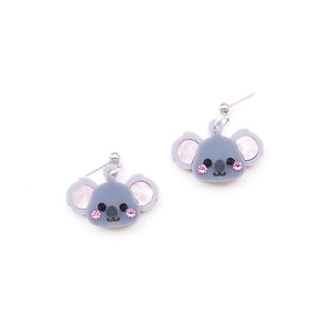 Koala Head Earrings