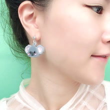 Load image into Gallery viewer, Koala Head Earrings